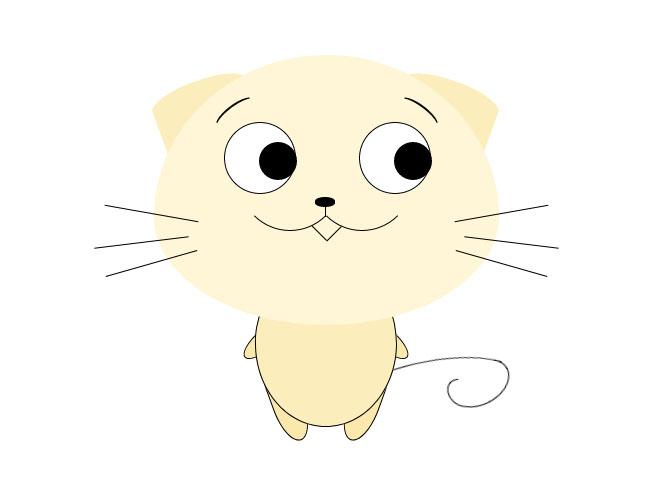 眼睛随鼠标移动小猫特效