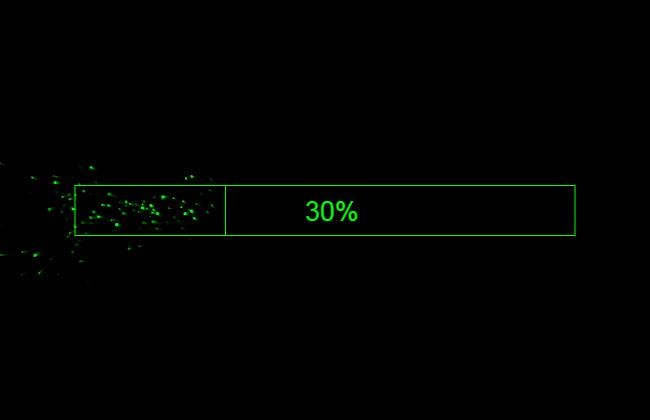 HTML5Canvas边框粒子加载动画特效