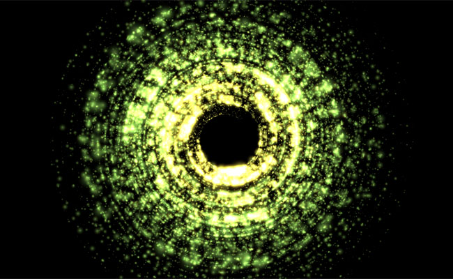 Canvas宇宙黑洞动画特效