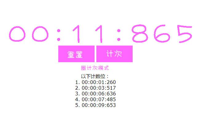 jQuery-秒表计时器计次代码