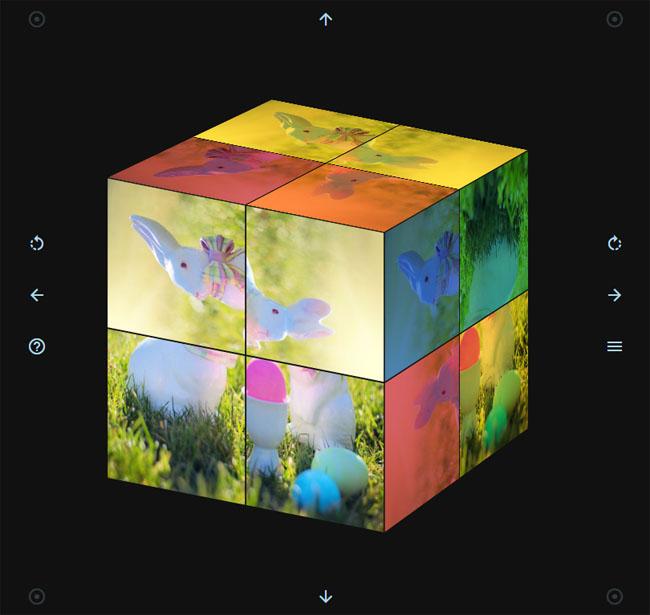 HTML5-3D魔方旋转拼图代码