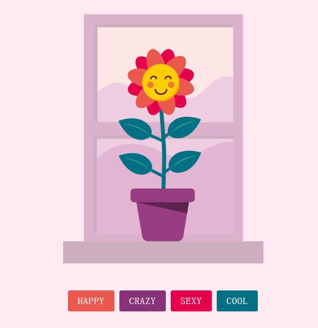 HTML5 +svg花朵动画特效