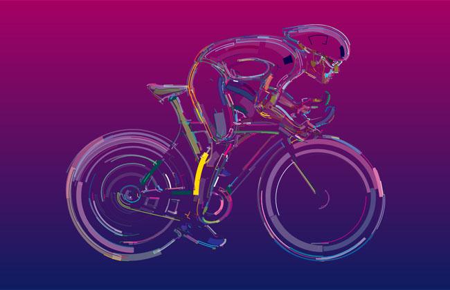 HTML5 SVG流体的自行车动画特效