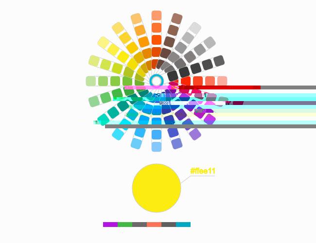 HTML5-SVG交互式取色特效