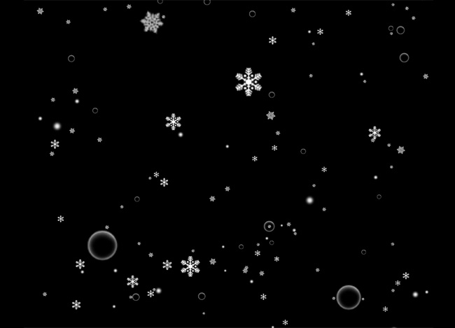 jQuery-新年雪花飘落动画特效