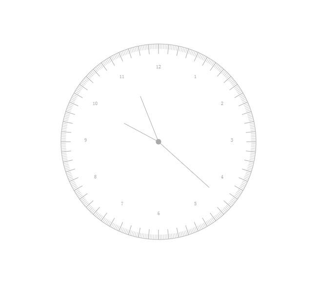 HTML5-简洁白色的时钟代码