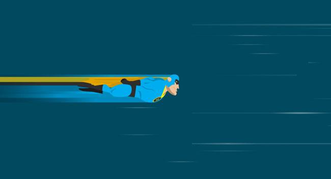 HTML5-SVG超人飞翔动画特效