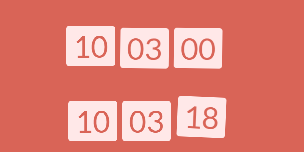 js-實時時鐘帶晃動動畫j特效效果