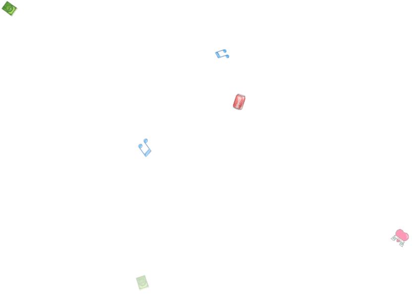 空中随机飘落各种可爱小物品js动画