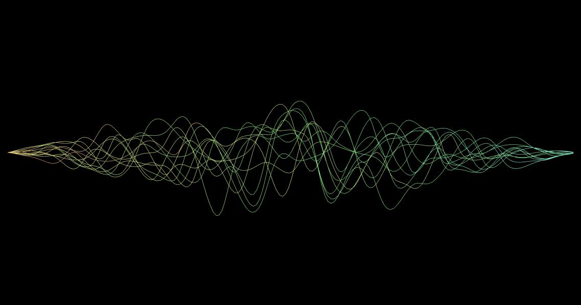 多彩线束3D缠绕加速效果canvas动画