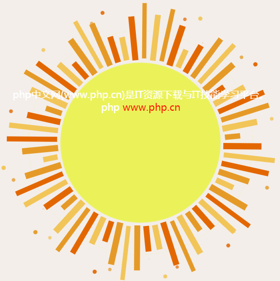 纯CSS实现卡通风格动态发光太阳特效动画