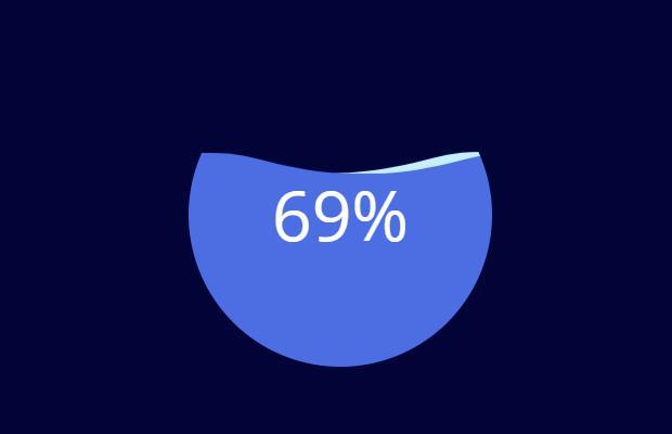 CSS3+SVG百分比波浪加载动画特效