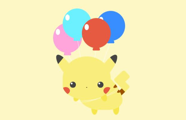 css3卡通皮卡丘氣球動畫特效