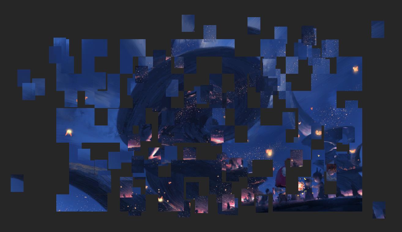 jquery酷炫的马赛克图片还原动画代码