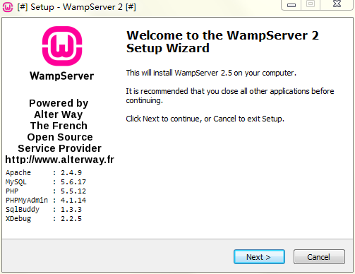 WampServer 1.6.1.33