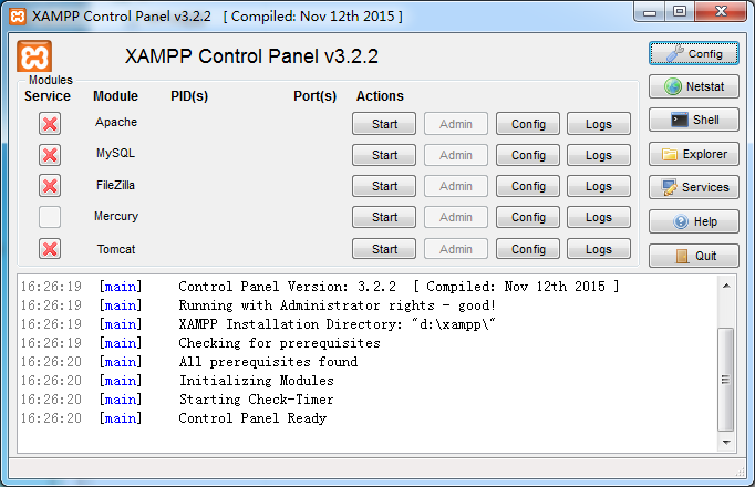 XAMPP 3.2.2.0
