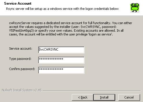 服务器数据同步 服务器端 cwRsync_Server_2.1.5_Installer