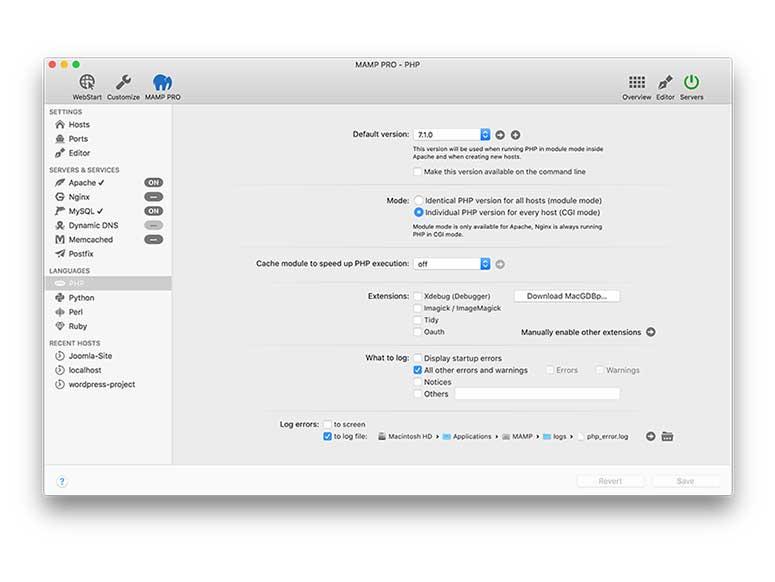 MAMP Pro for Mac 4.4
