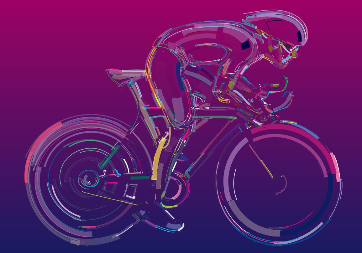 HTML5加SVG流体3D自行车骑行动画特效