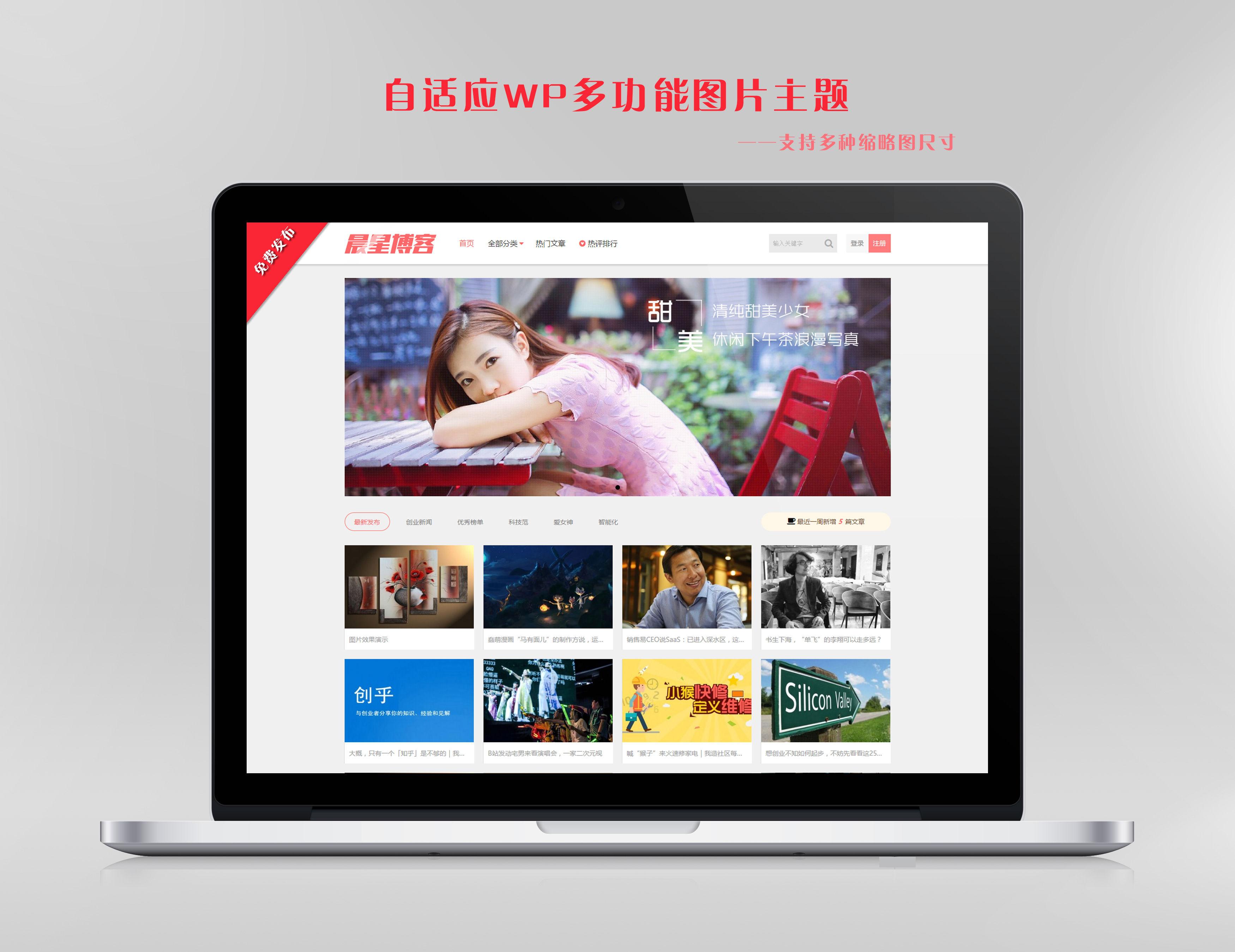 自适应多功能图片WordPress主题——CX-UDY免费发布