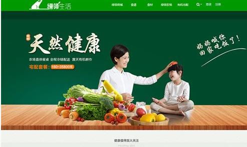 大气绿色清新discuz企业网站模板