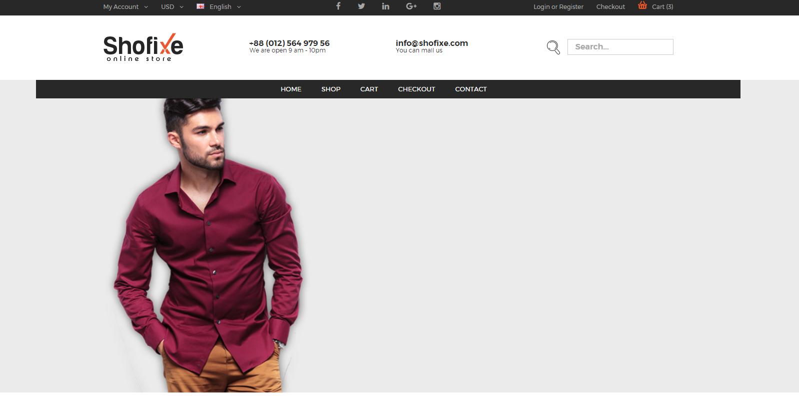 鞋服在线商城网站模板