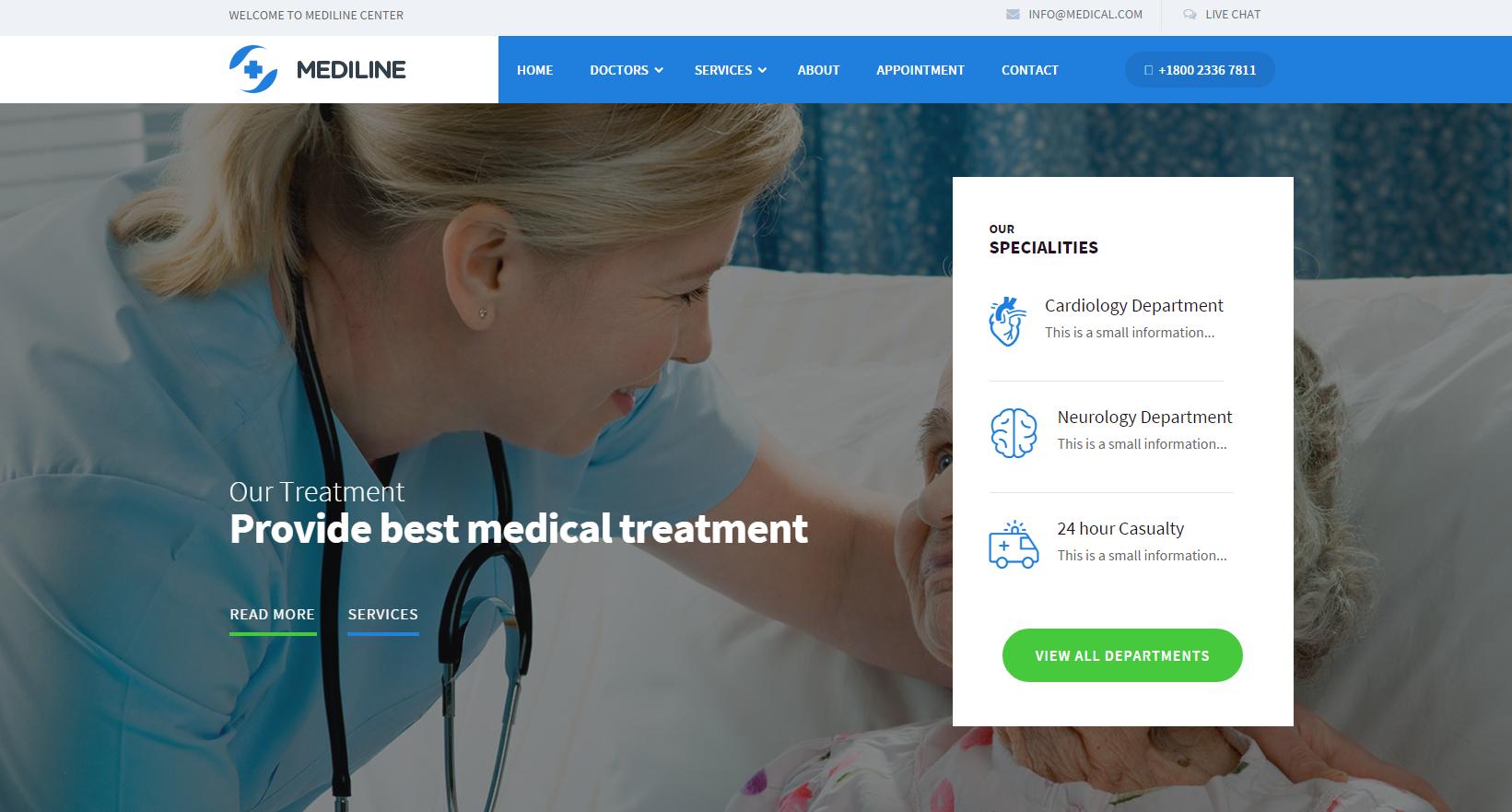 自适应医疗与健康HTML5模板