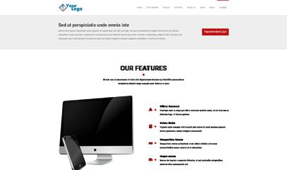 单页科技公司作品展示bootstrap模板