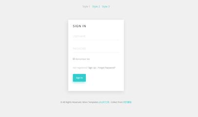 清爽漂亮注册登录html5代码模板
