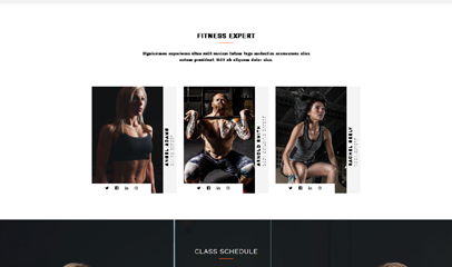 运动健身举重运动员响应式企业网站模板