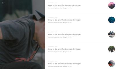 简洁个人博客blog日志html5模板