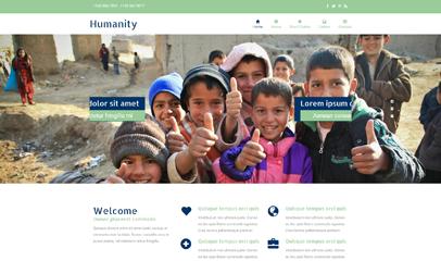 贫困儿童资助公益企业网页模板