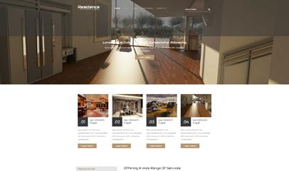 二手房房产中介响应式网站模板