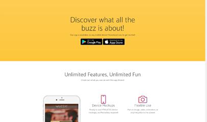 New app手机应用开发官网响应式模板