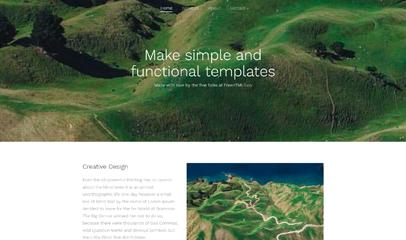 简洁simple景点或项目展示页bootstrap模板