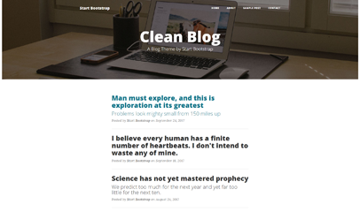 clean Blog极简个人博客主页模板