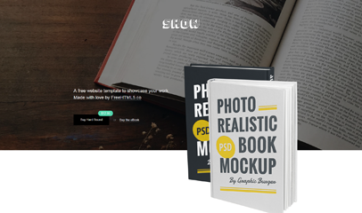 eBook书店好书推介响应式网页模板