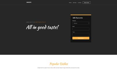在线订餐外卖平台响应式html5模板