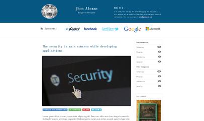 程序员博客blog免费html5模板