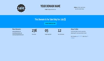 域名停放出售单页模板