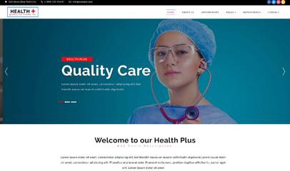 妇幼保健院医院网站模板