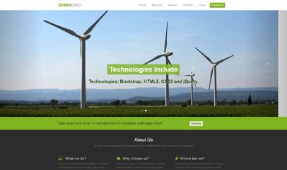 绿色集团官网网站模板