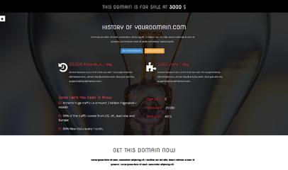 黑色css3动画域名停放页bootstrap模板