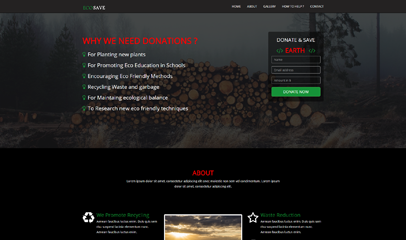 ECOSAVE bootstrap单页模板下载