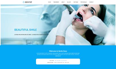 蓝色卫生医疗网站模板