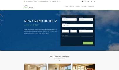 Bootstrap4框架酒店预订模板