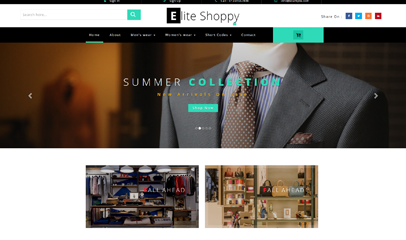 电子购物商城网站模板