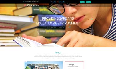 博士毕业教育网站模板