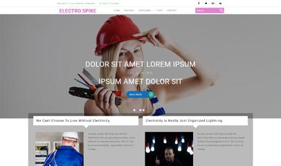电工培训机构网站HTML模板