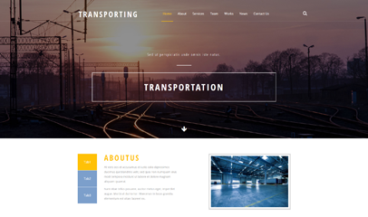 宽屏运输工业网站HTML模板